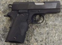 Colt New Agent 1911 3in .45acp Crimson Trace laser grips and trench sights