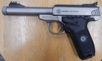 Smith & Wesson Victory 5.5in stainless steel .22lr threaded barrel
