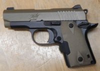 Kimber Micro 9 3in 9mm with laser grips and FDE finish