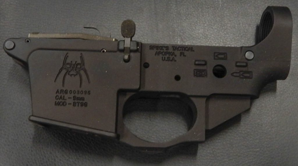 Spikes Tactical ST96 9mm ar-15 lower GLOCK MAGS