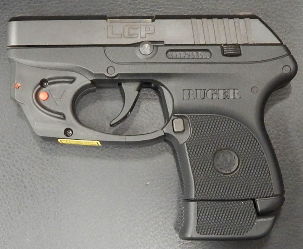 Ruger LCP with Viridian red laser 2.75