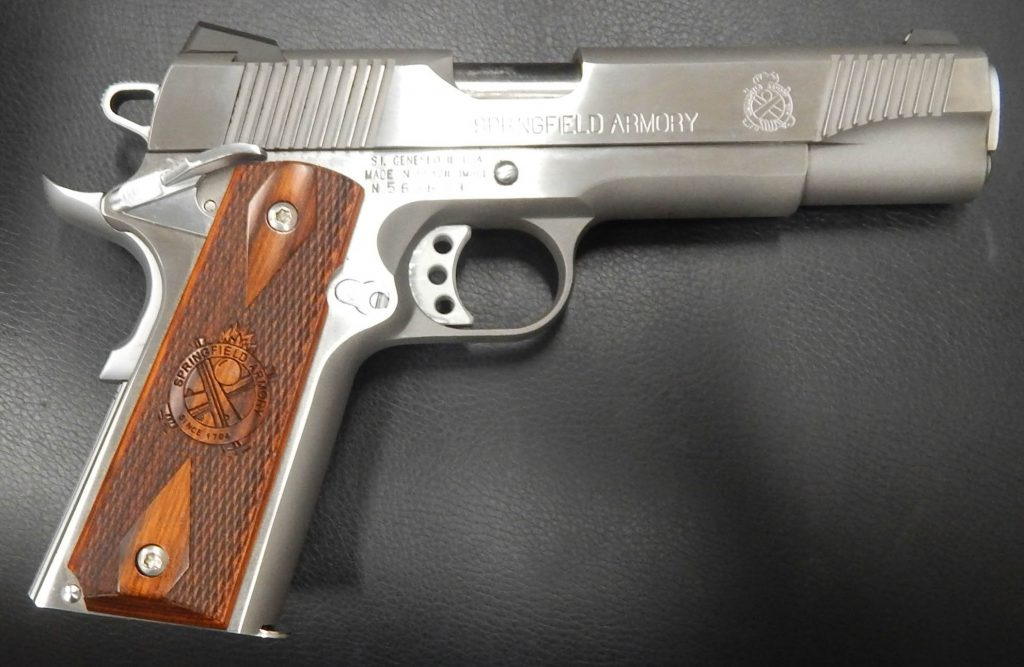 Springfield Armory 1911 stainless loaded 5