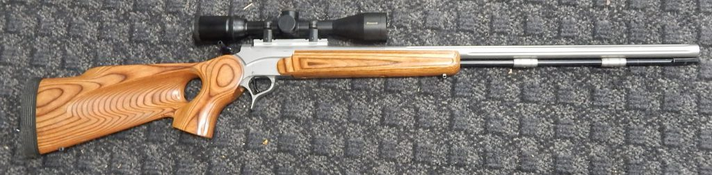 Thompson Center Encore stainless steel 50 cal with scope