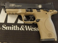Smith & Wesson M&P .22lr compact with threaded barrel and FDE frame 10242